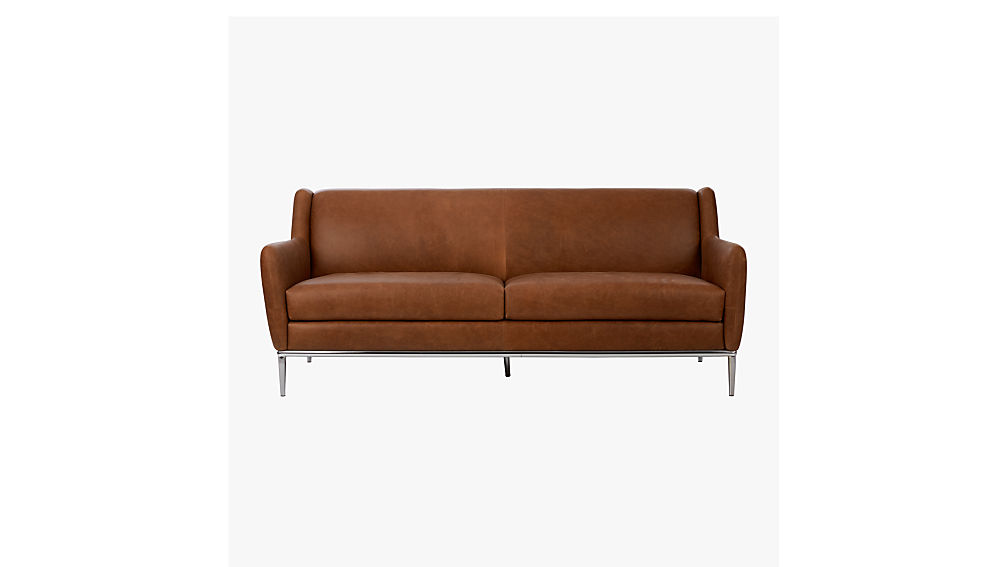 Alfred leather sofa cb2 for Cb2 leather sectional