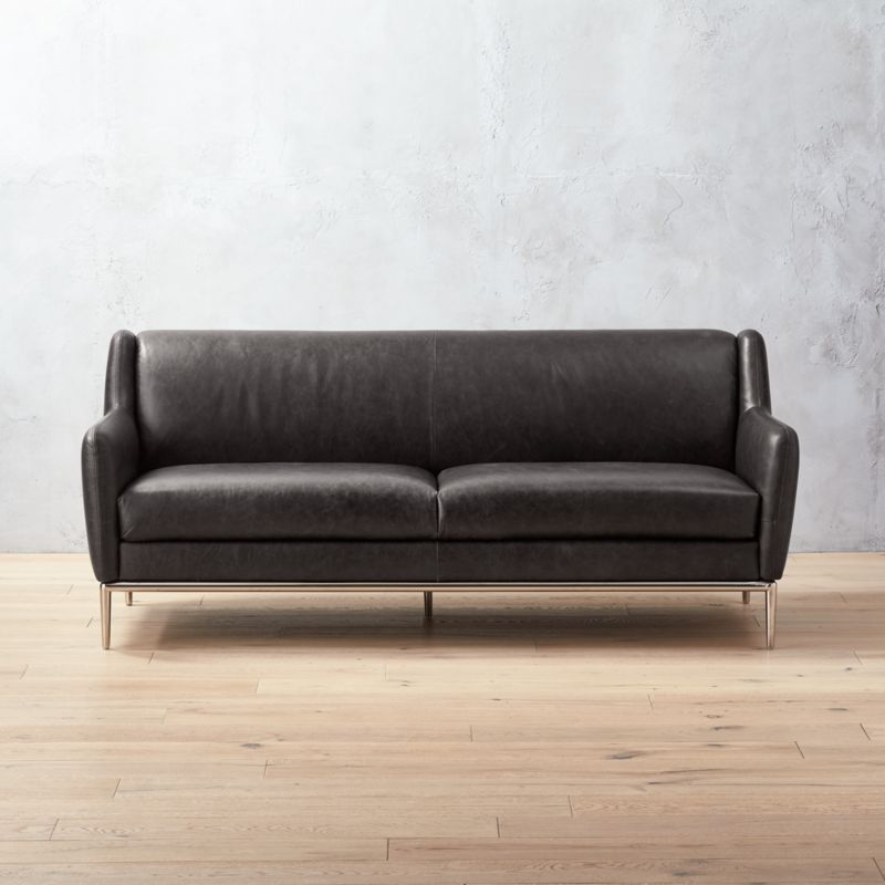 contemporary leather sofa sleeper. alfred black leather sofa contemporary sleeper