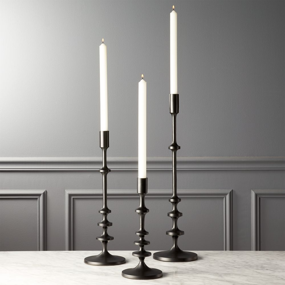 Online Designer Living Room Allis Black Taper Candle Holders Set of 3
