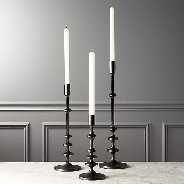 Allis Black Taper Candle Holders
