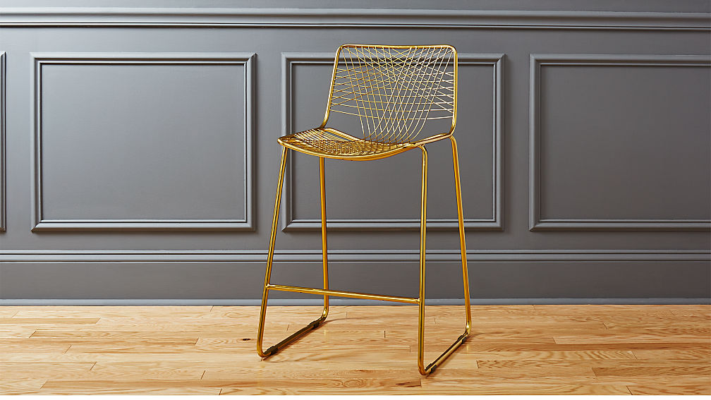 "alpha brass 24"" counter stool"