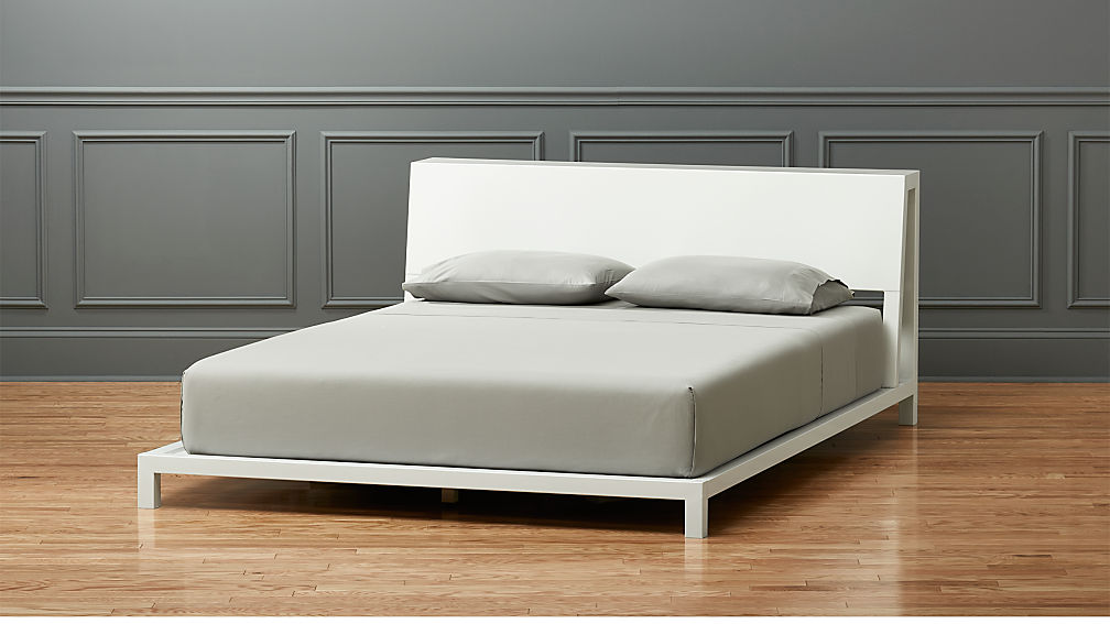 alpine white bed cb2 - Full White Bed Frame