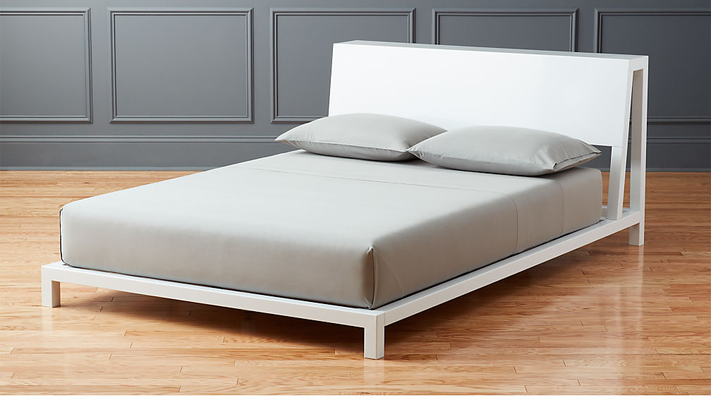Alpine White Full Bed Cb2