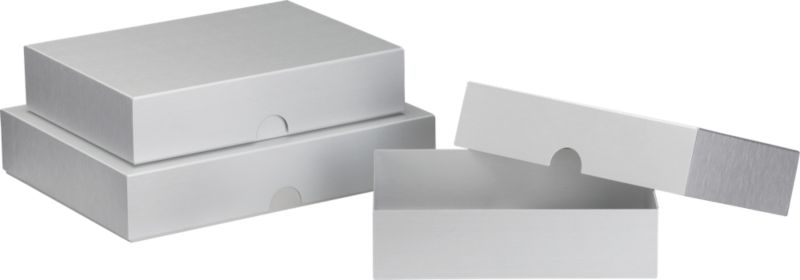 3-piece aluminum box set
