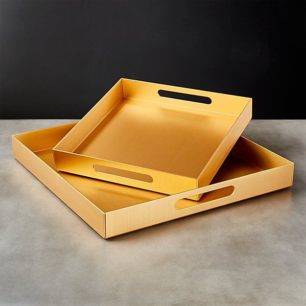Aluminum Gold Trays