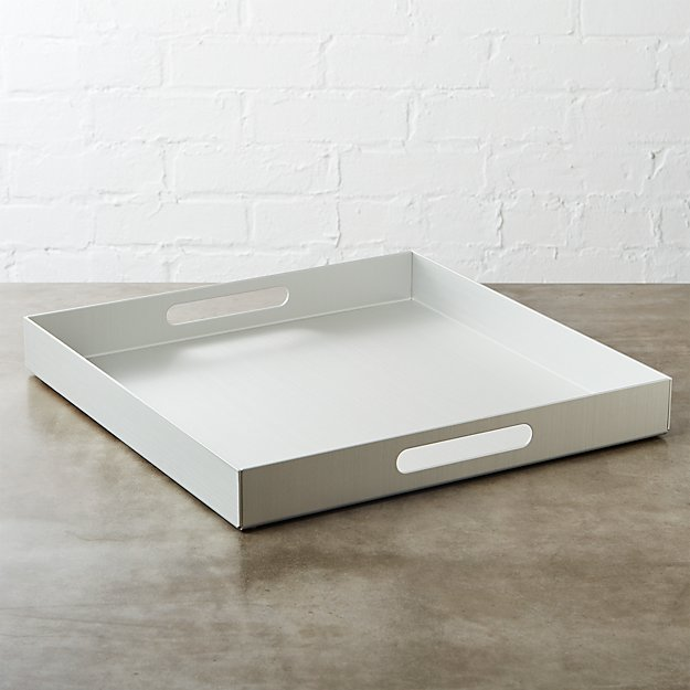 aluminum large silver tray