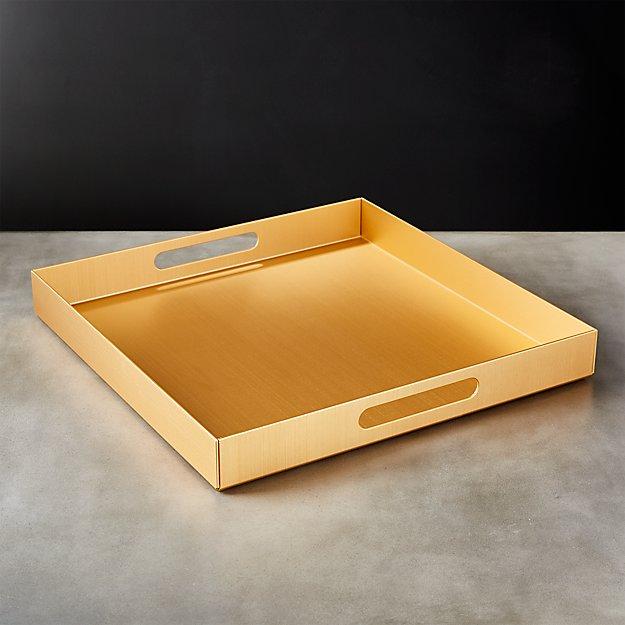 Aluminum Large Gold Tray