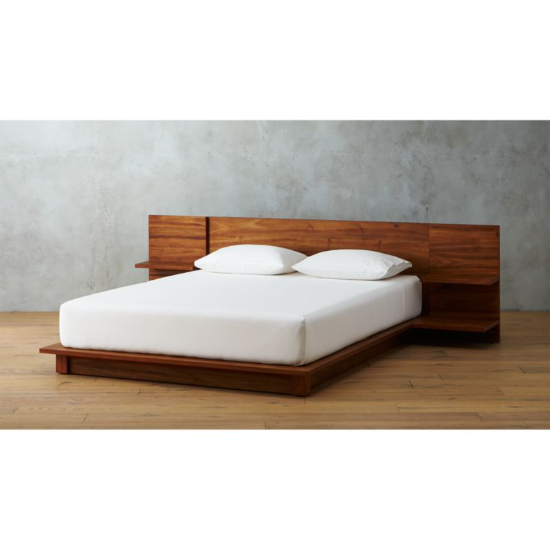 andes acacia bed. modern beds  bed frames and headboards   CB2