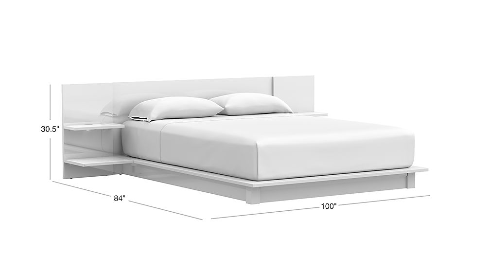 tap to zoom image with dimension for andes white queen bed - White Queen Bed Frames