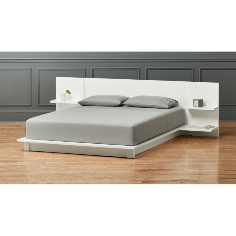 white wave bed andes white storage bed cb2