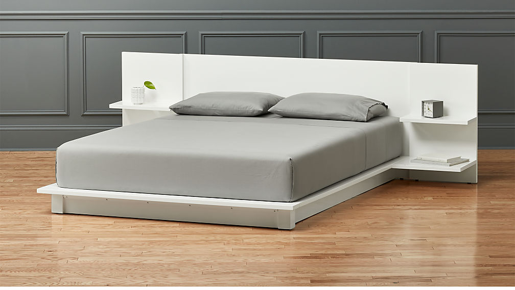 Andes White Queen Storage Bed Reviews Cb2