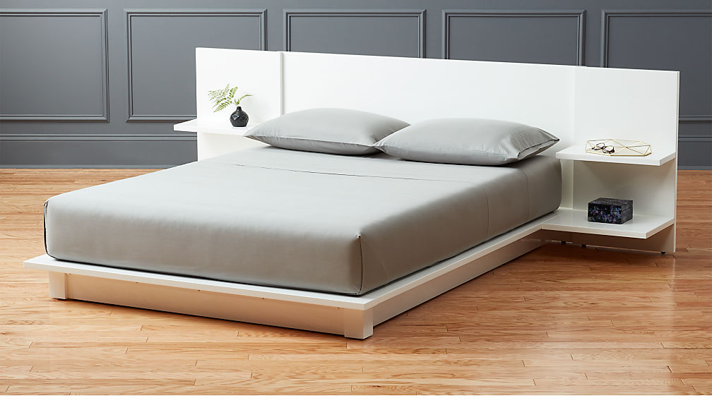 Andes White Full Storage Bed In Beds Reviews Cb2