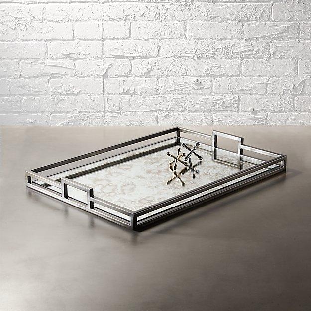 antique mirror tray