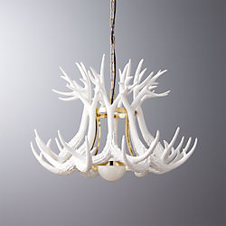 antler pendant light