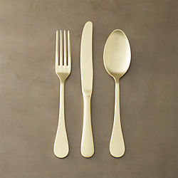 12-piece antoinette gold flatware set