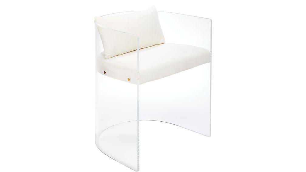 antonio acrylic chair with pillow
