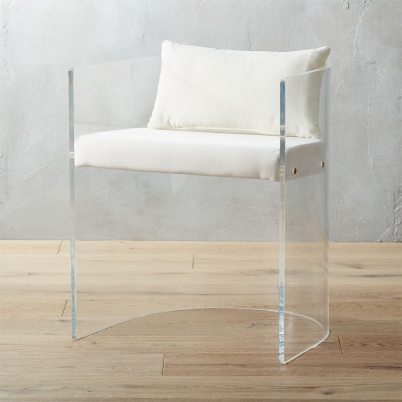 Antonio Acrylic Chair With Pillow Cb2