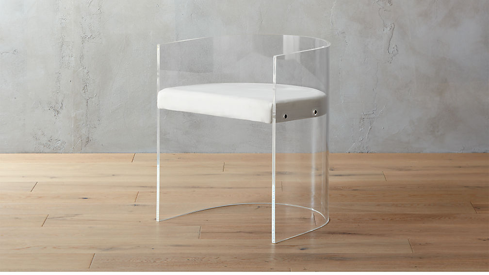 Antonio Acrylic Accent Chair Cb2