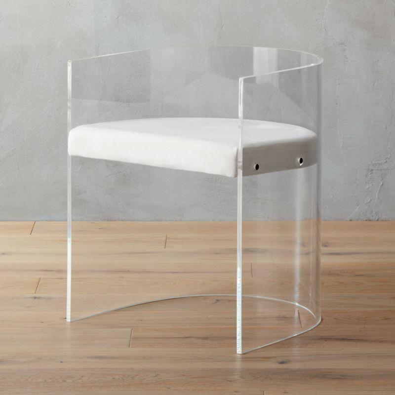Antonio Acrylic Round Chair Reviews Cb2