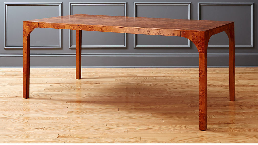 Burl wood dining table reviews cb