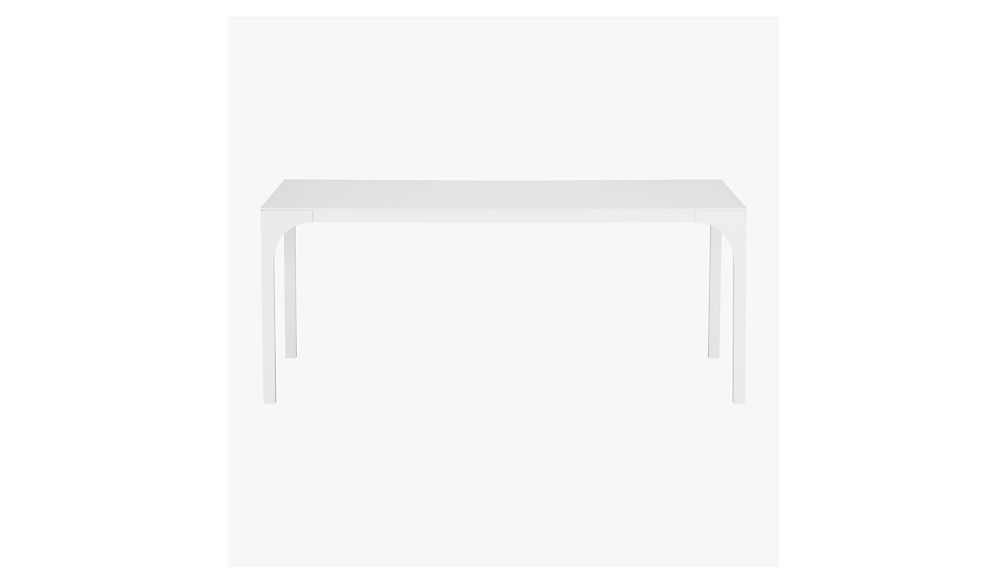 aqua virgo white gloss dining table reviews cb2. Black Bedroom Furniture Sets. Home Design Ideas