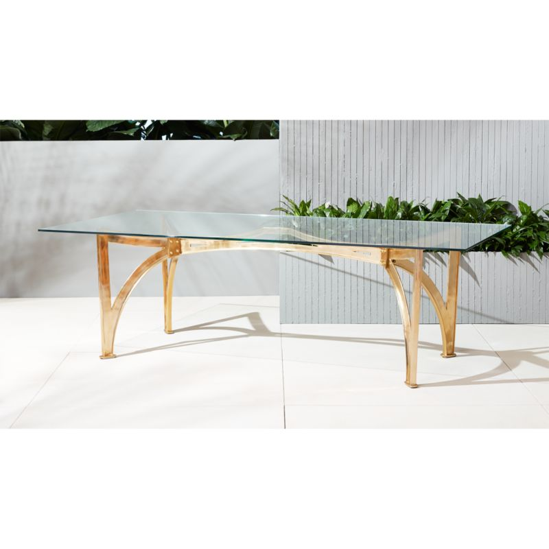 aqueduct clear glass table CB2