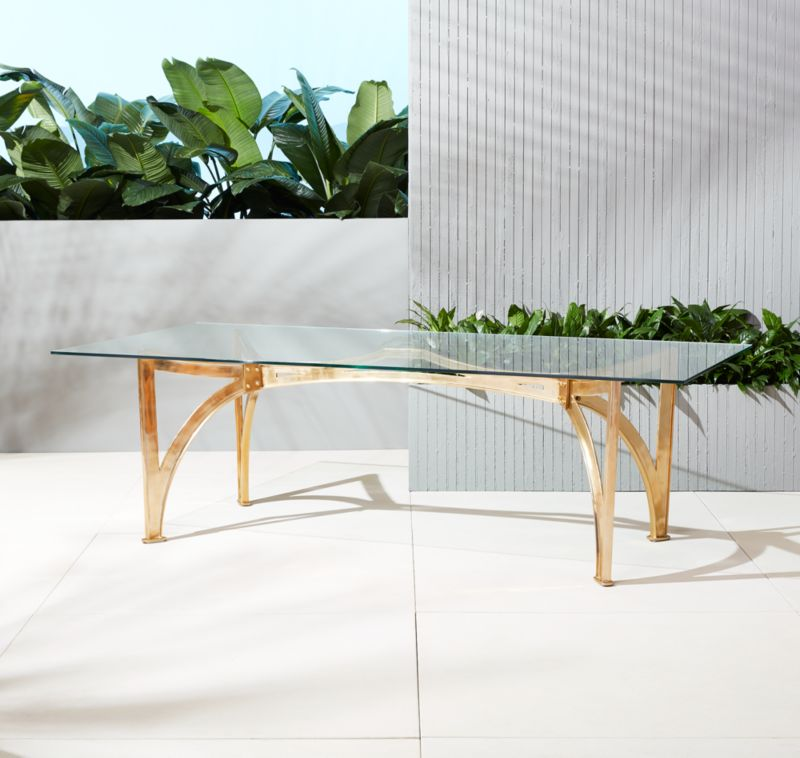 Marvelous Aqueduct Clear Glass Table | CB2