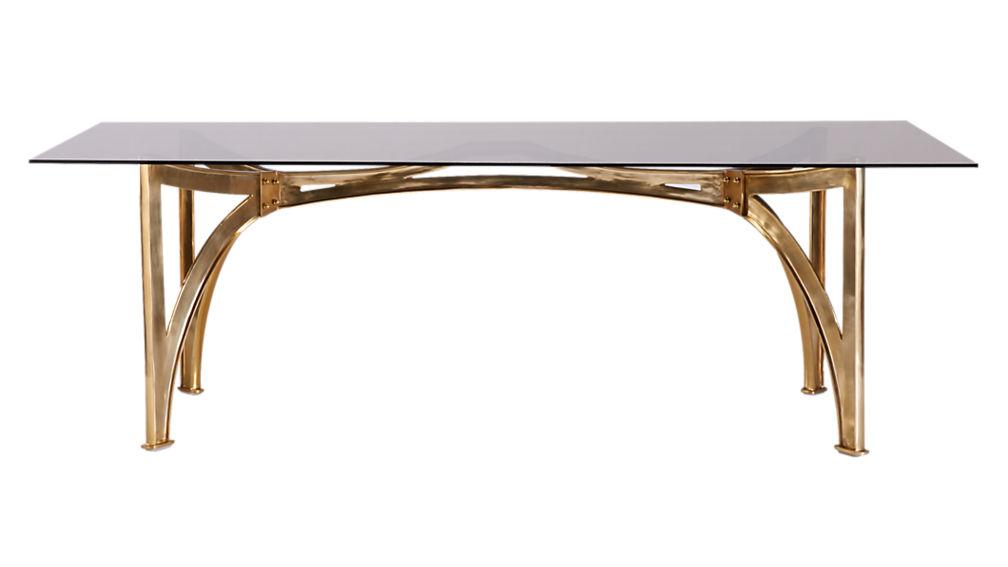 aqueduct smoke grey glass table