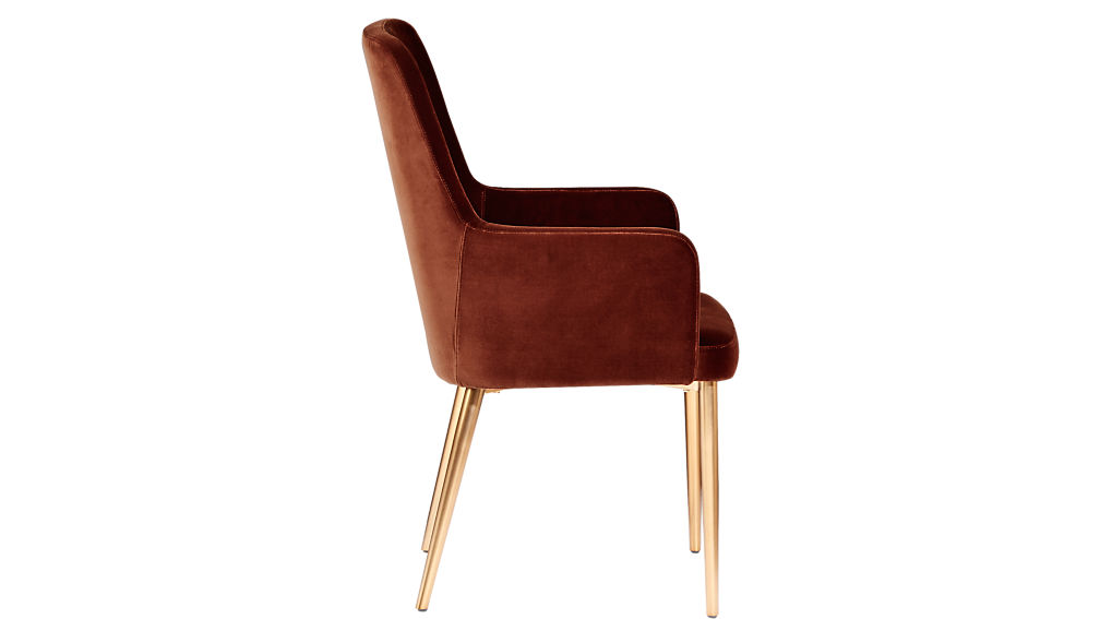 Aragon Velvet Sienna Chair