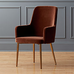 aragon velvet sienna chair