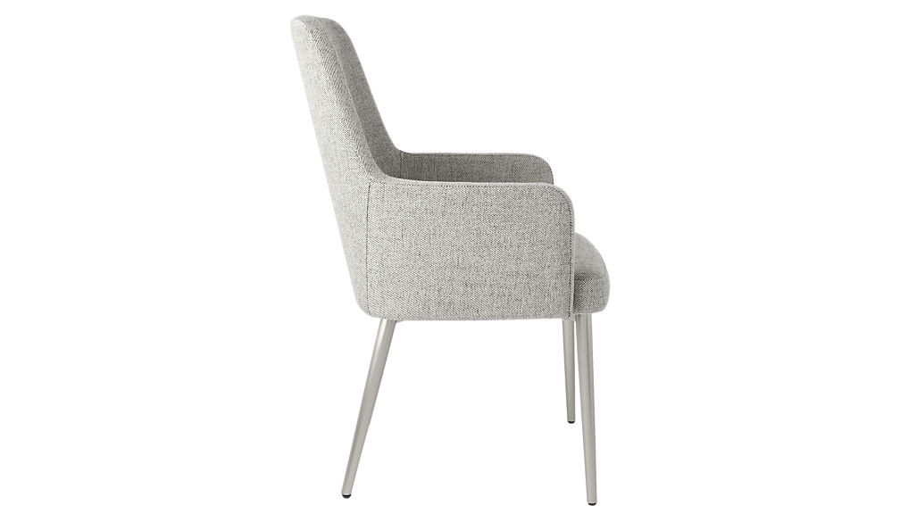 Aragon Stone Grey and Silver Chair