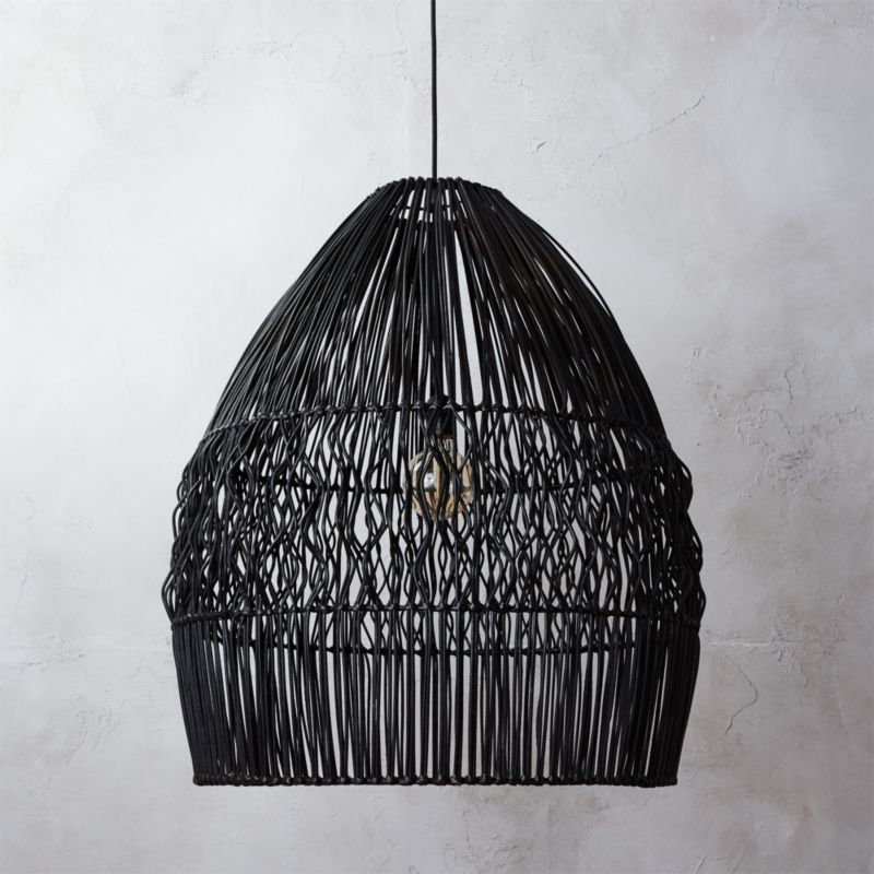 Archer Black Pendant Light In Pendant Lights + Reviews | CB2