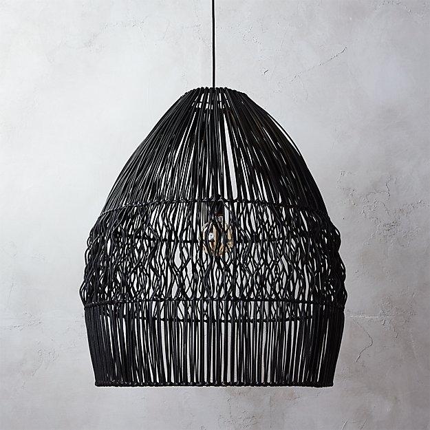 Archer black pendant light in pendant lights reviews cb2 mozeypictures Gallery