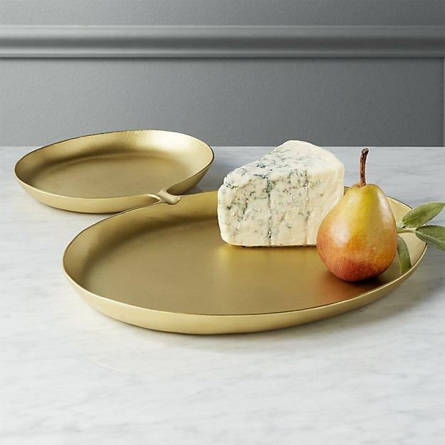arnold gold serving platter