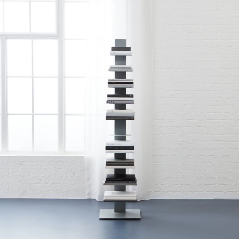 array light grey bookcase