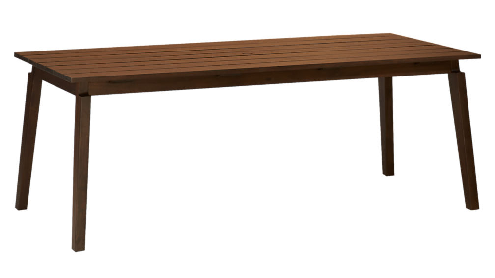 artemis outdoor wood dining table CB2