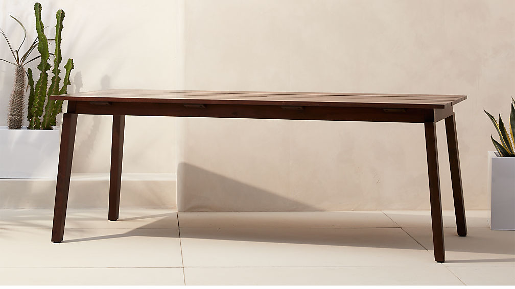 artemis outdoor wood dining table