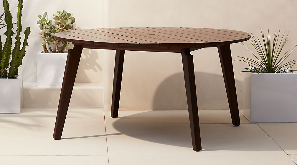 artemis round wooden outdoor table CB2 : artemis round dining table from www.cb2.com size 1008 x 567 jpeg 71kB