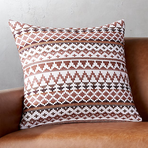 "20"" Aspen Mauve Pillow with Feather-Down Insert."