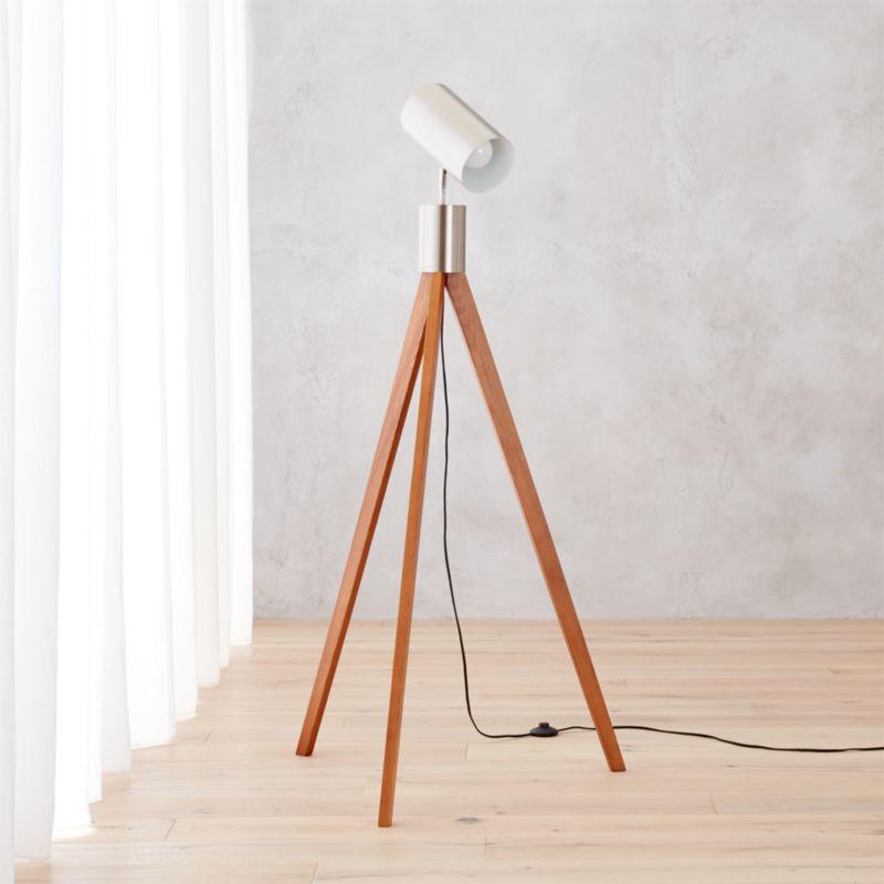 Tripod floor lamp cb2 floor matttroy for Cb2 lamp pool floor lamp