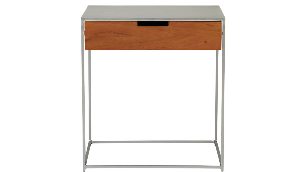 Audrey Wood And Iron Nightstand Cb2