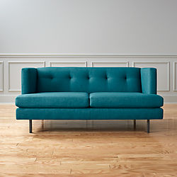 Avec Apartment Sofa with Gunmetal Legs