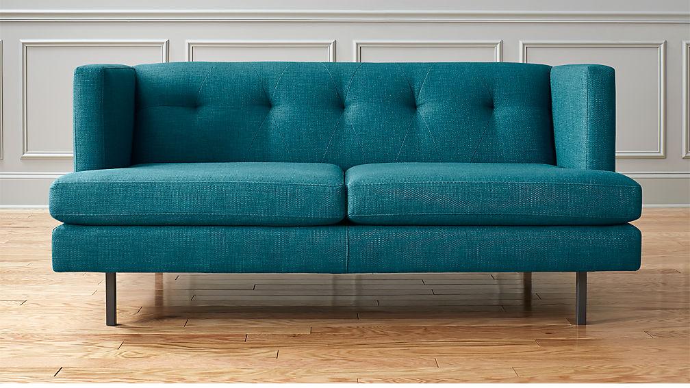 Avec Apartment Sofa with Gunmetal Legs | CB2