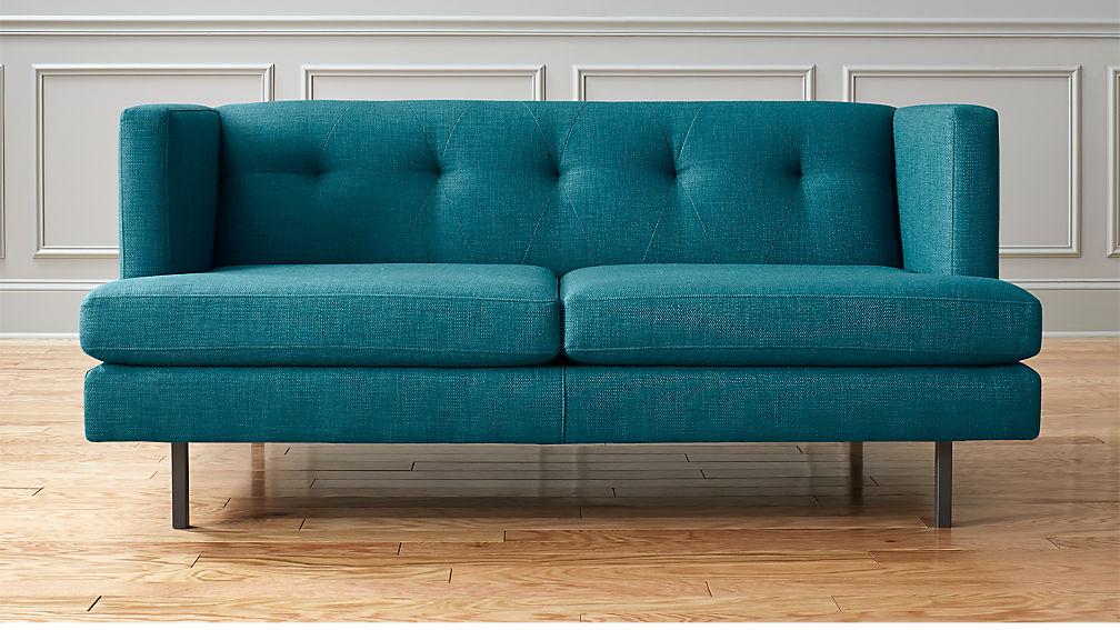 Avec Apartment Sofa with Gunmetal Legs ...