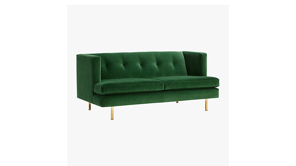 cb2 apartment sofa avec green velvet apartment sofa cb2