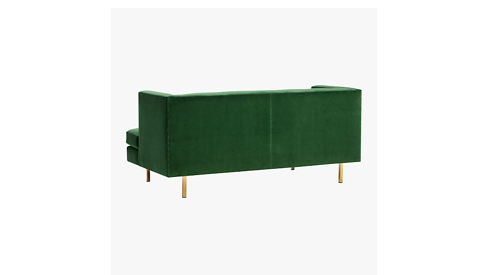 avec apartment sofa with brass legs