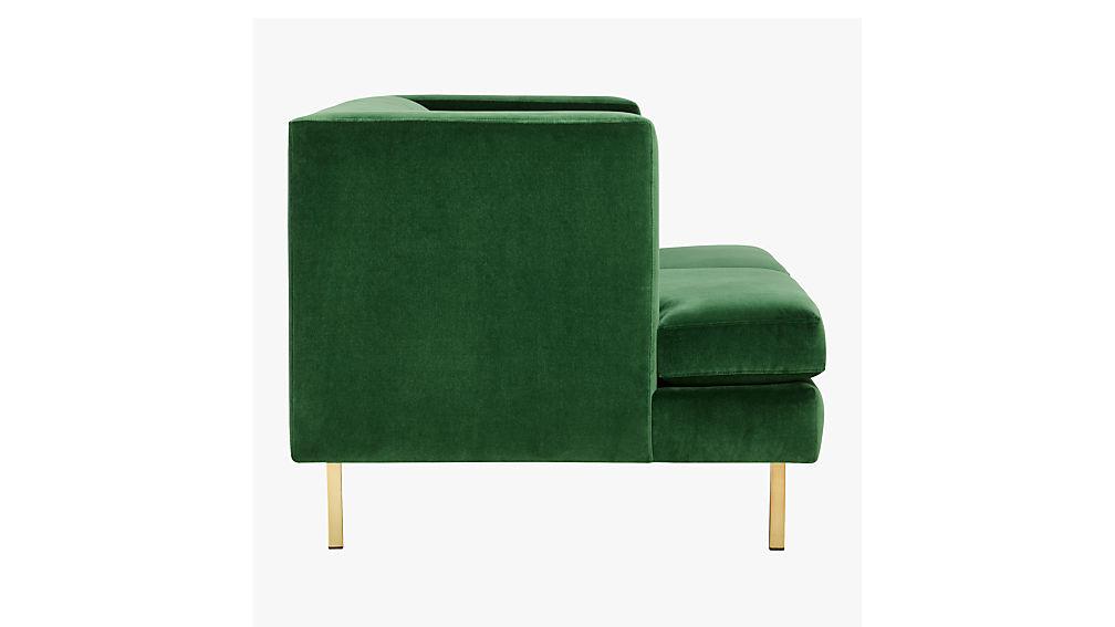 avec apartment sofa with brass legs