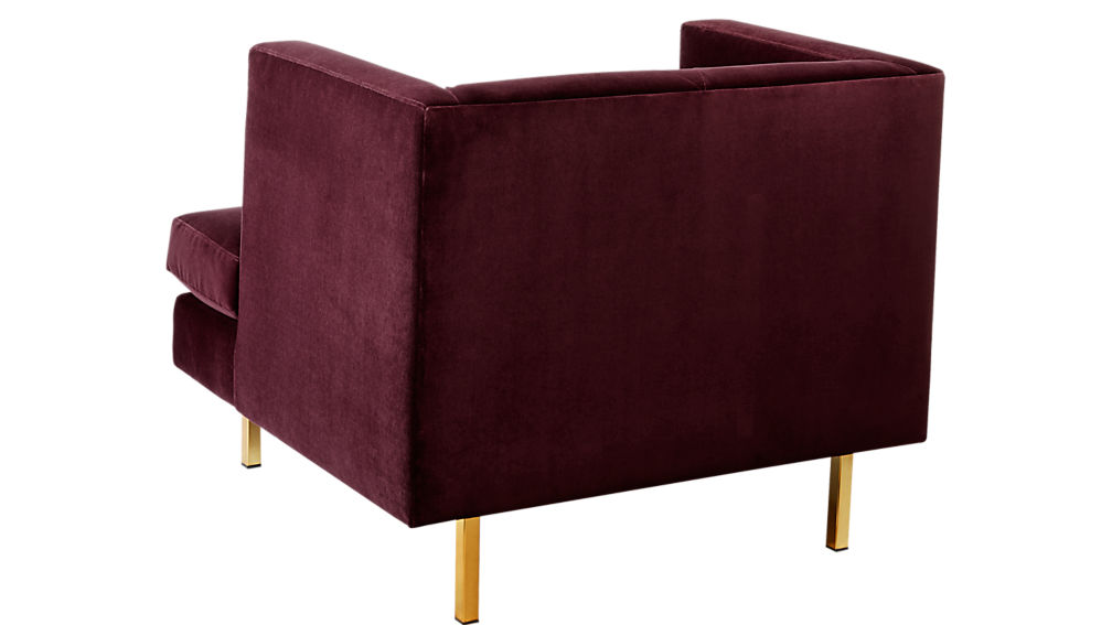 Avec Bergamot Purple Chair with Brass Legs