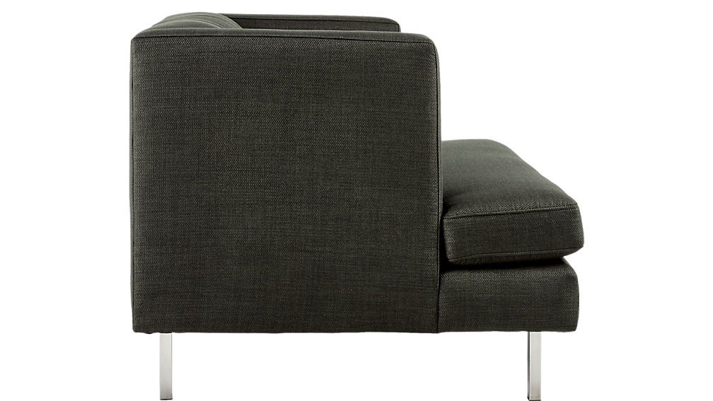 Avec Carbon Chair with Brushed Stainless Steel Legs