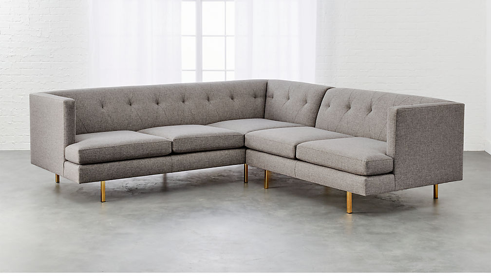 Sofa with legs abbott sofa n120c chrome legs by rowe for Cb2 leather sectional